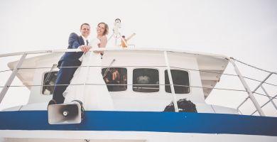 Ablauf Einer Hochzeitsfeier Auf Dem Schiff Ab Nordstrand